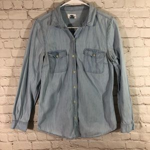 Old Navy denim long sleeve button up